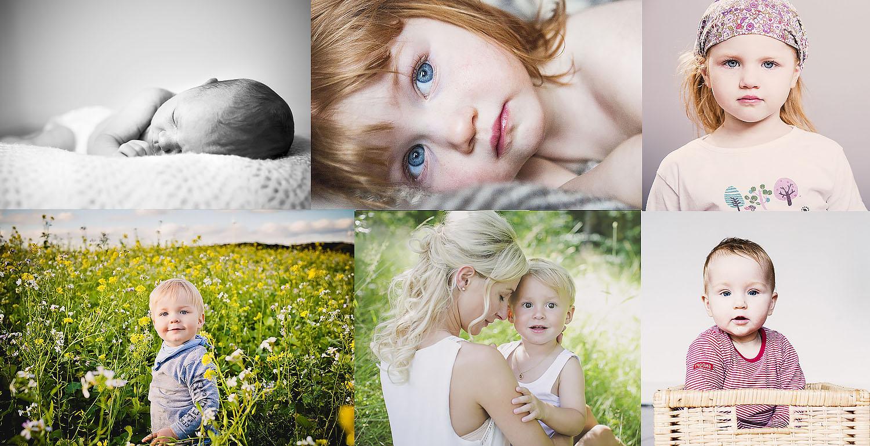 børnefotograf kollage